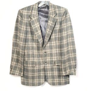 Christian Dior Plaid Gray Sport Coat Jacket  38R